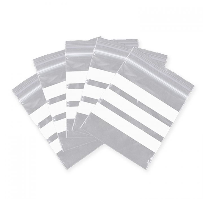 Ziplock bags with write-on panels give you the convenience in keeping and categorizing small items or personal things